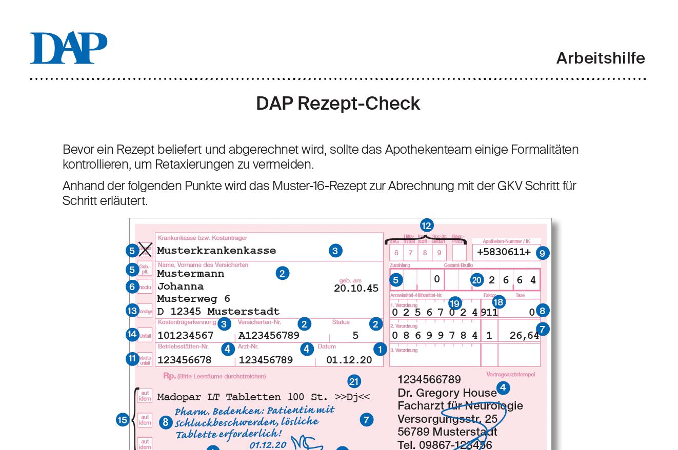 receipt auf deutsch