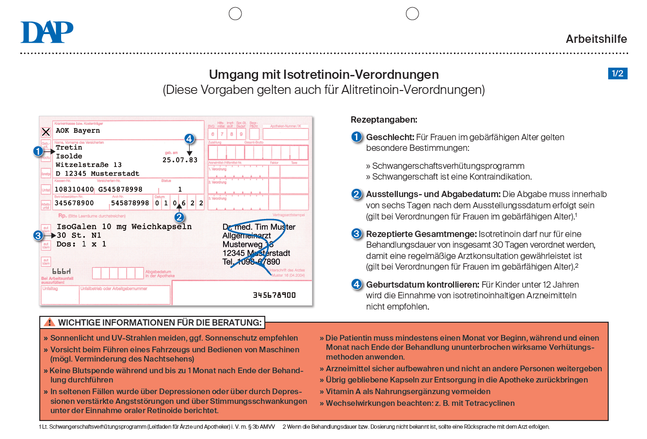 Isotretinoin- und Acitretin-Rezept - DeutschesApothekenPortal