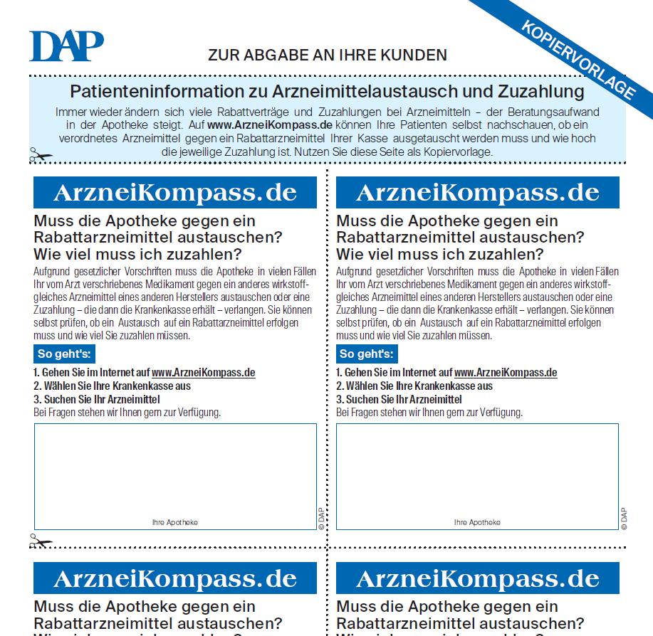 Arzneikompass - DeutschesApothekenPortal